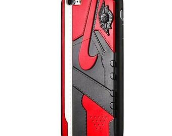 Nike Jordan 1 Banned Fragment 3D Iphone Case for Iphone 7 7 Plus 8 8 Plus X f306d76c1