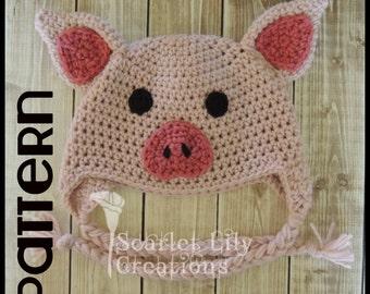PATTERN  Crochet Pig Hat 9f04f1bdb11