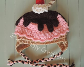 Ice Cream Hat READY TO SHIP