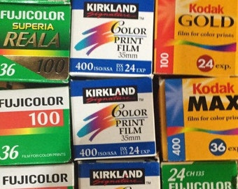 Grab Bag: 10 Random Rolls of expired 35mm Film!!