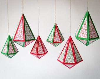 diy christmas diy holiday ornaments 8 printable christmas tree decoration printable templates paper gems paper craft digital download pdf