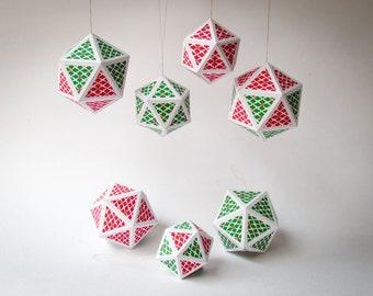 diy holiday ornaments 7 diy holiday decor diy christmas printable tree decoration digital download 3d paper gems printable templates pdf