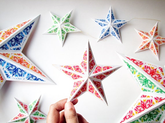 Homemade Christmas Star Decorations  Il 570xn 1066287176 Acqn