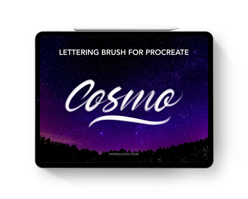 Cosmo - Procreate lettering brush, procreate brushes procreate  handlettering iPad lettering practice calligraphy, digital lettering  download