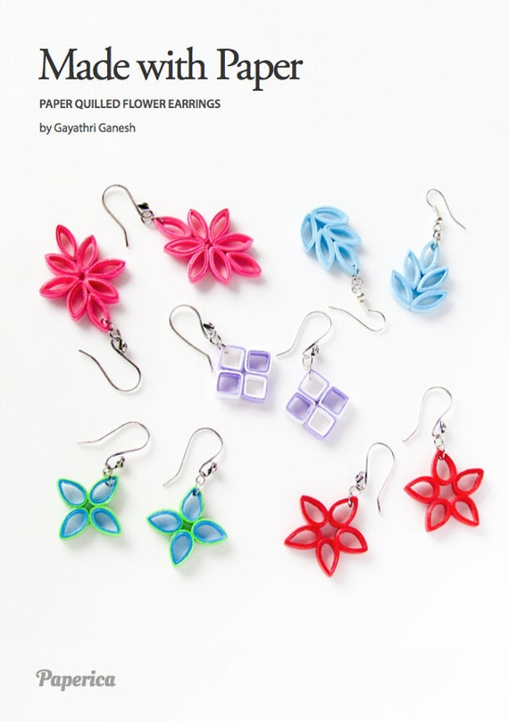 Diy paper quilling jewelry tutorial paper quilled flower etsy image 0 mightylinksfo