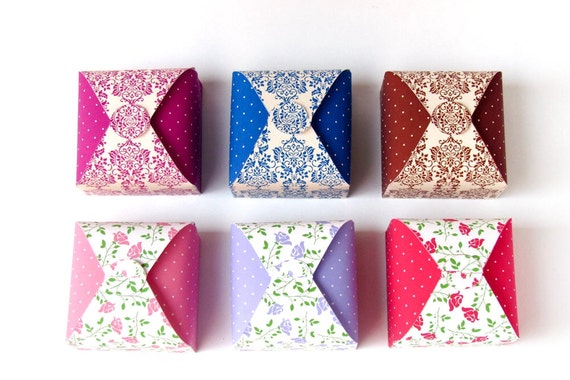 DIY Printable party favor boxes - Set of 6, No glue, slotted favor ...