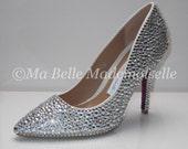 Crystal Bridal Shoes, Crystal Wedding Shoes, Rhinestone Bridal Shoes, Strass Shoes, Heels, Strass Pumps