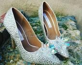 Cinderella Crystal Wedding Shoe 39 s, Bridal Shoes, Crystal Bridal Shoes, Strass Bridal Pumps, Wedding Shoes,Strass Wedding Shoes, Strass Pumps