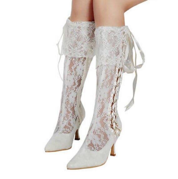 Vintage Spitze Stiefel Viktorianische Braut Stiefel Braut Etsy