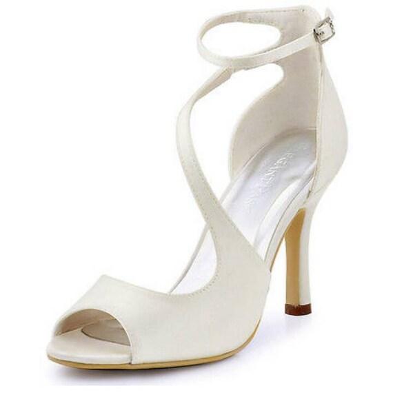 Elfenbein Schuhe Brautschuhe Elfenbein Elfenbein Satin Etsy
