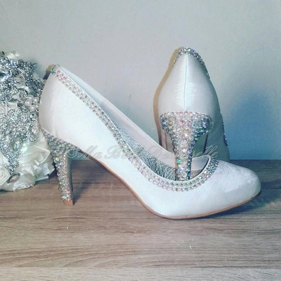 61f617ebe8d5 Swarovski Crystal Bridal Shoe s
