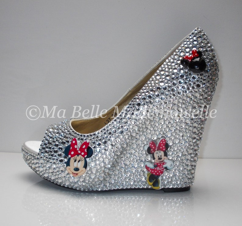 944195038 Minnie Mouse Crystal Wedge Shoe s
