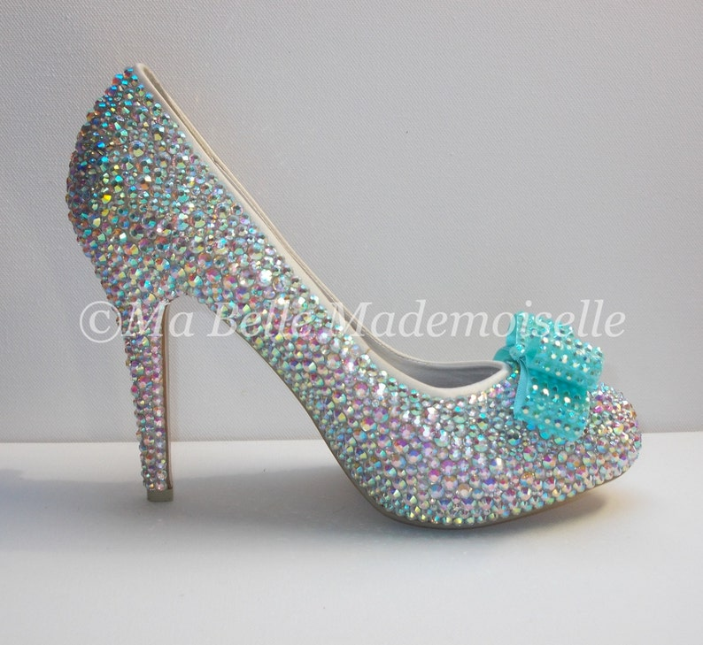 2a26339d501 Bow Beautiful Crystal Bridal Shoes Wedding Shoes Bow