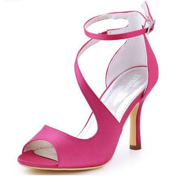 Braut Schuhe Rosa Satin Schuhe Rosa Hochzeitsschuhe Rosa Etsy