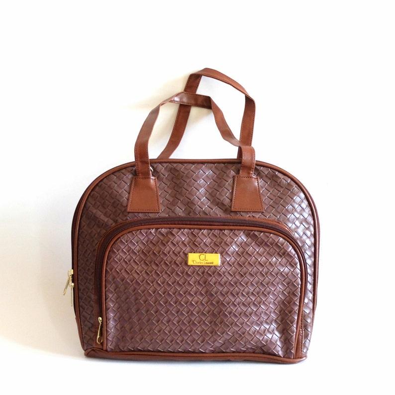 Vintage soulder bag, brown, Charles Laurent