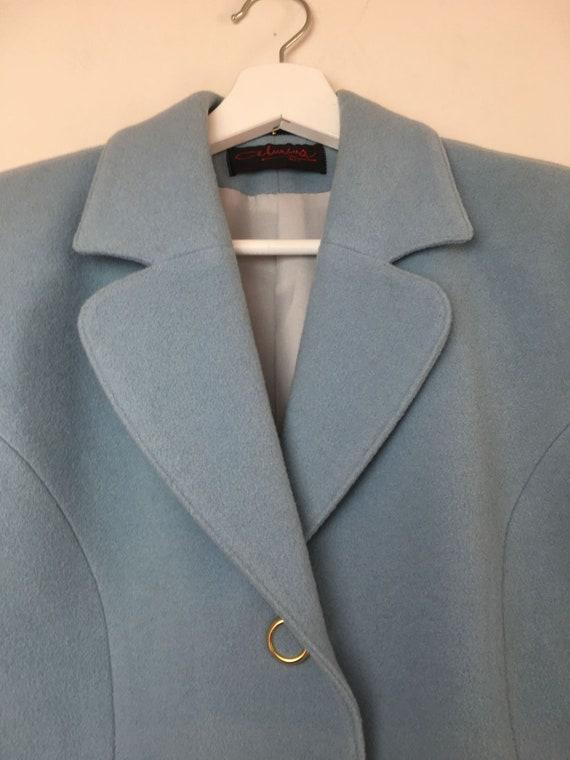 Blue wool and cashemere jacket, vintage - image 8