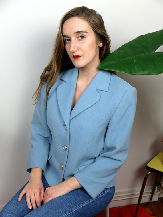 Blue wool and cashemere jacket, vintage