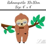 Embroidery Design Sloth 4'x4' - DIGITAL DOWNLOAD PRODUCT