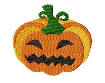 Embroidery Design Halloween Pumpkin 4'x4' - DIGITAL DOWNLOAD PRODUCT