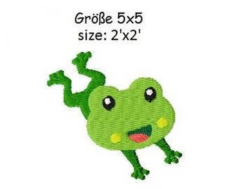 Embroidery Design Little Frog 3 2'x2' - DIGITAL DOWNLOAD PRODUCT