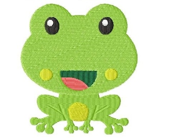 Embroidery Design Little Frog 6 4'x4' - DIGITAL DOWNLOAD PRODUCT