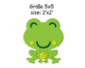 Embroidery Design Little Frog 5 2'x2' - DIGITAL DOWNLOAD PRODUCT