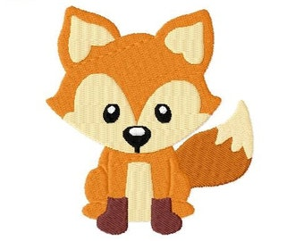 Embroidery Design Fox 4'x4' - DIGITAL DOWNLOAD PRODUCT