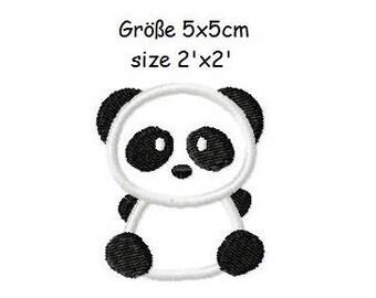 Embroidery Design Applique Panda 2'x2' - DIGITAL DOWNLOAD PRODUCT