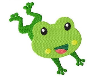 Embroidery Design Little Frog 3 4'x4' - DIGITAL DOWNLOAD PRODUCT