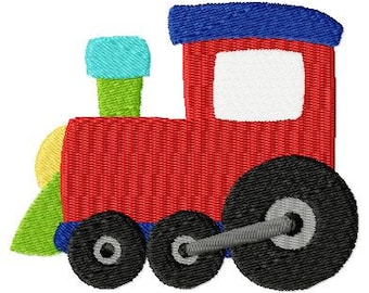 Embroidery Design Locomotive 4'x4' - DIGITAL DOWNLOAD PRODUCT