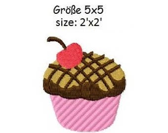 Embroidery Design Cupcake 2'x2' - DIGITAL DOWNLOAD PRODUCT