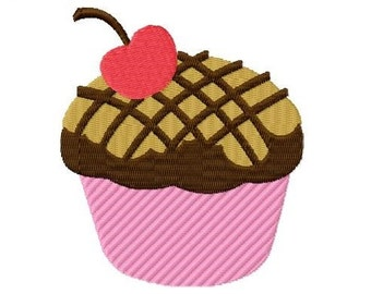 Embroidery Design Cupcake 4'x4' - DIGITAL DOWNLOAD PRODUCT