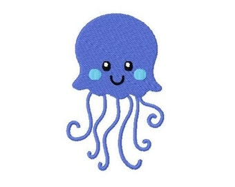 Embroidery Design jellyfish 4'x4' - DIGITAL DOWNLOAD PRODUCT