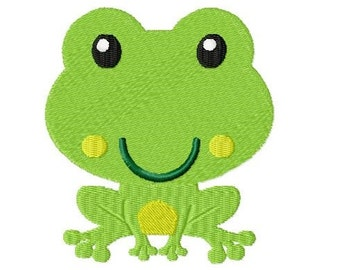 Embroidery Design Little Frog 4 4'x4' - DIGITAL DOWNLOAD PRODUCT