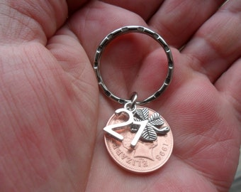 21st Birthday Present 1998 British Coin Keyfob For A Gift 21 Charm