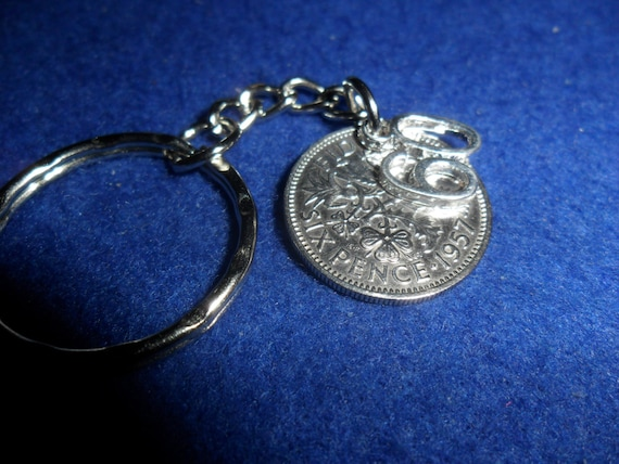 """Personalised Grandma  1958 Sixpence 5/"""" Bookmark  For 60th Birthday  Boxed Gift*"""