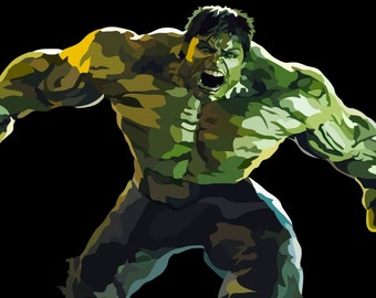 Hulk Digital Art Print