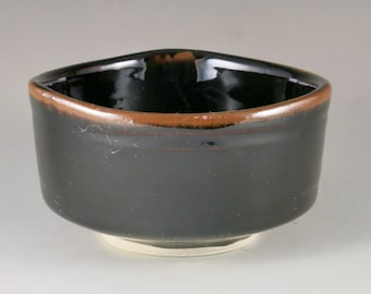 Brown and Red Stoneware Gas Fired Bowl, Serving Bowl, Unique Gift, Birthday Gift 82103