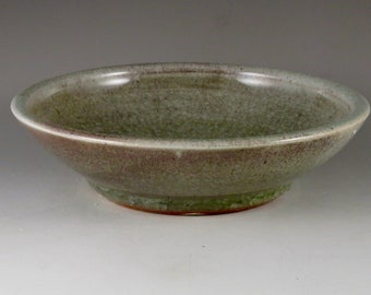 Red and Green Stoneware Soda Fired Plate, Dish Unique Gift, Birthday Gift 82106