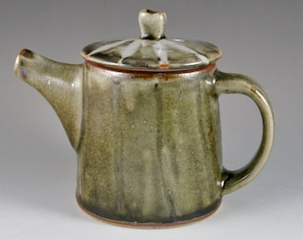 Grey and White Stoneware Gas Fired Teapot, Unique Gift, Birthday Gift 22104