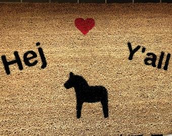 Hej Y'all Doormat Stencils