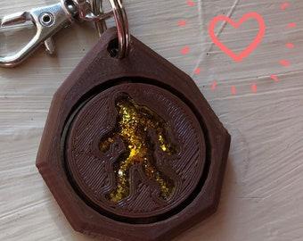 Bigfoot Keychain