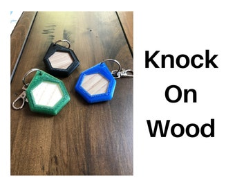 Knock on Wood keychain