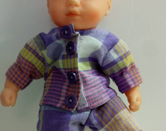 Jacket and pants for dolls / 20 cm mini Corolla or corolline infants. Hand made