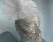 Felicia- Birdcage Veil,  Wedding Veil, Wedding Hair Accessory, Wedding Hair Piece,  Flower Veil, Short Veil, Hair Fascinator, Free Shipping