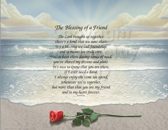 Freundschaft Gedicht Personalisierte Druck Gedruckt Bereit Rahmen Wand Plaque Große Geschenkidee Gedicht Für Freund Inspirierende Freundschaft