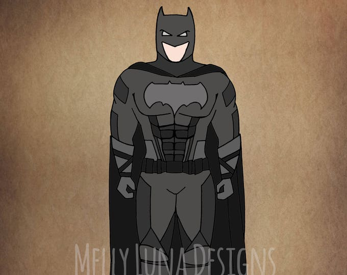 Batman Inspired Print, Justice League, DC Comics, Dark Knight