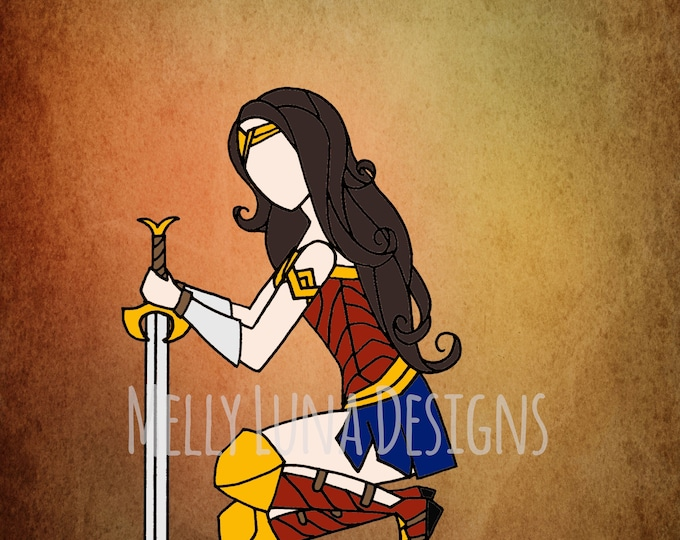 Wonder Woman Inspired Print, Preparing for Battle, DC Comics