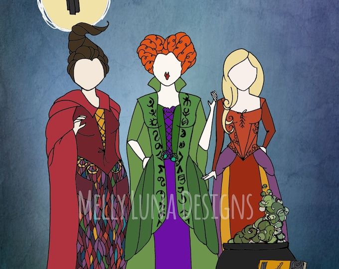 Inspired by Hocus Pocus, Sanderson Sisters, Halloween All Year