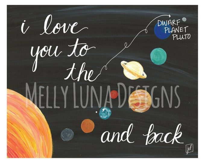 Love you to the...and Back Mixed Media Print